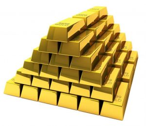 Goldstapel zum Thema Altgold