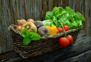 Lebensmittel im Korb